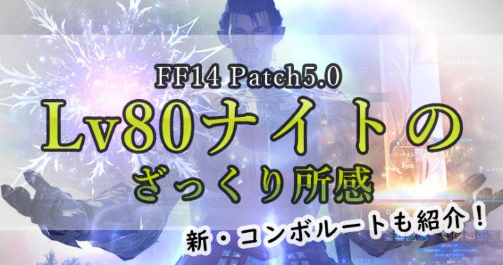 パッチ5.0 Lv80のナイトをプレイして感じたこと